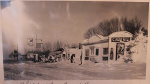 Tourist Cabins during the blizzard of 1949